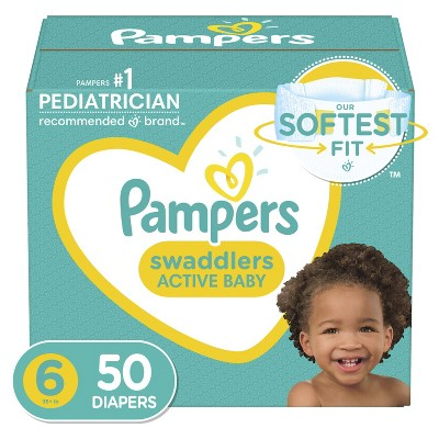 Pampers Swaddlers Diapers Super Pack - Size 6 - 50ct