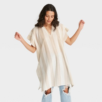 Women's Woven Striped Tunic Jacket - Universal Thread™
