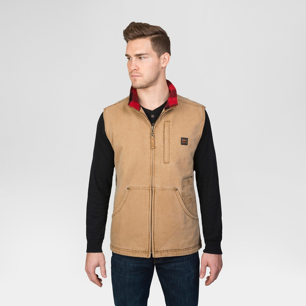 Walls Vintage Pecos Duck Vest Washed Pecan XL, Men's