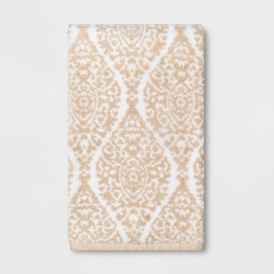 Performance Bath Towel Canvas Ogee Tan - Threshold™