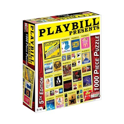 Endless Games Playbill: Best of Broadway Jigsaw Puzzle - 1000pc