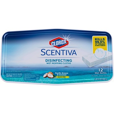 Mops & Accessories: Clorox Scentiva Disinfecting Wet Mopping Cloths