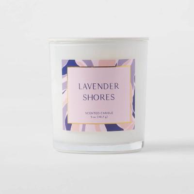 5oz Glass Jar Lavender Shores Candle - Opalhouse™