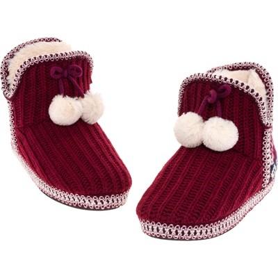 FUNZIEZ! - Women's Crochet Knit Bootie Slippers