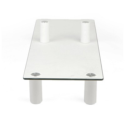Mind Reader Glass Computer Monitor Stand Riser Clear