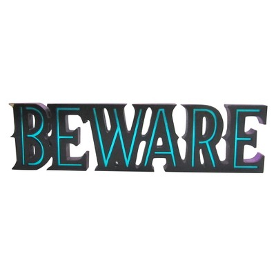 Halloween Beware Tabletop Sign - Hyde and Eek! Boutique™