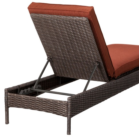 Belvedere Wicker Patio Chaise Lounge Orange Threshold Target