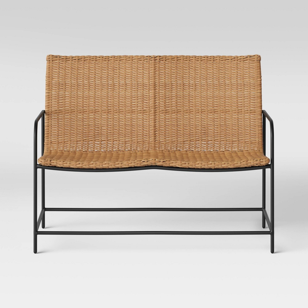 Wexler Wicker Patio Loveseat Set - Natural - Project 62 was $350.0 now $175.0 (50.0% off)