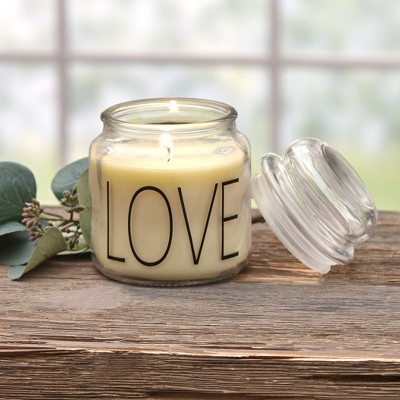 Lakeside Farmhouse Jar Candle - Vanilla with Sentiment, Vintage Look