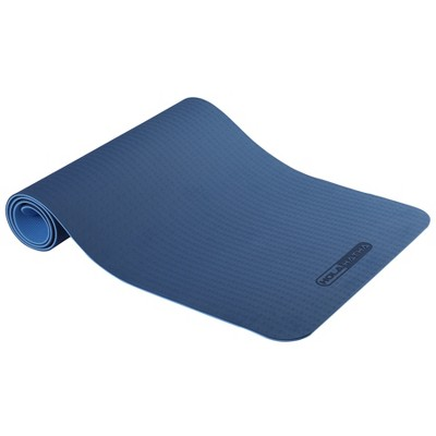 """HolaHatha 72"""" Tall x 24"""" Wide Double Sided Reversible 0.25"""" Thick Non Slip Home Gym Exercise Yoga Mat for All Yoga, Pilates and Floor Workouts, Blue"""