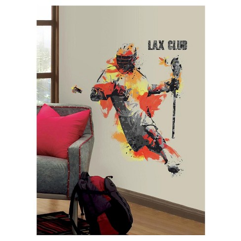 RoomMates Men's Lacrosse Champion Peel and Stick Giant Wall Decals - image 1 of 1