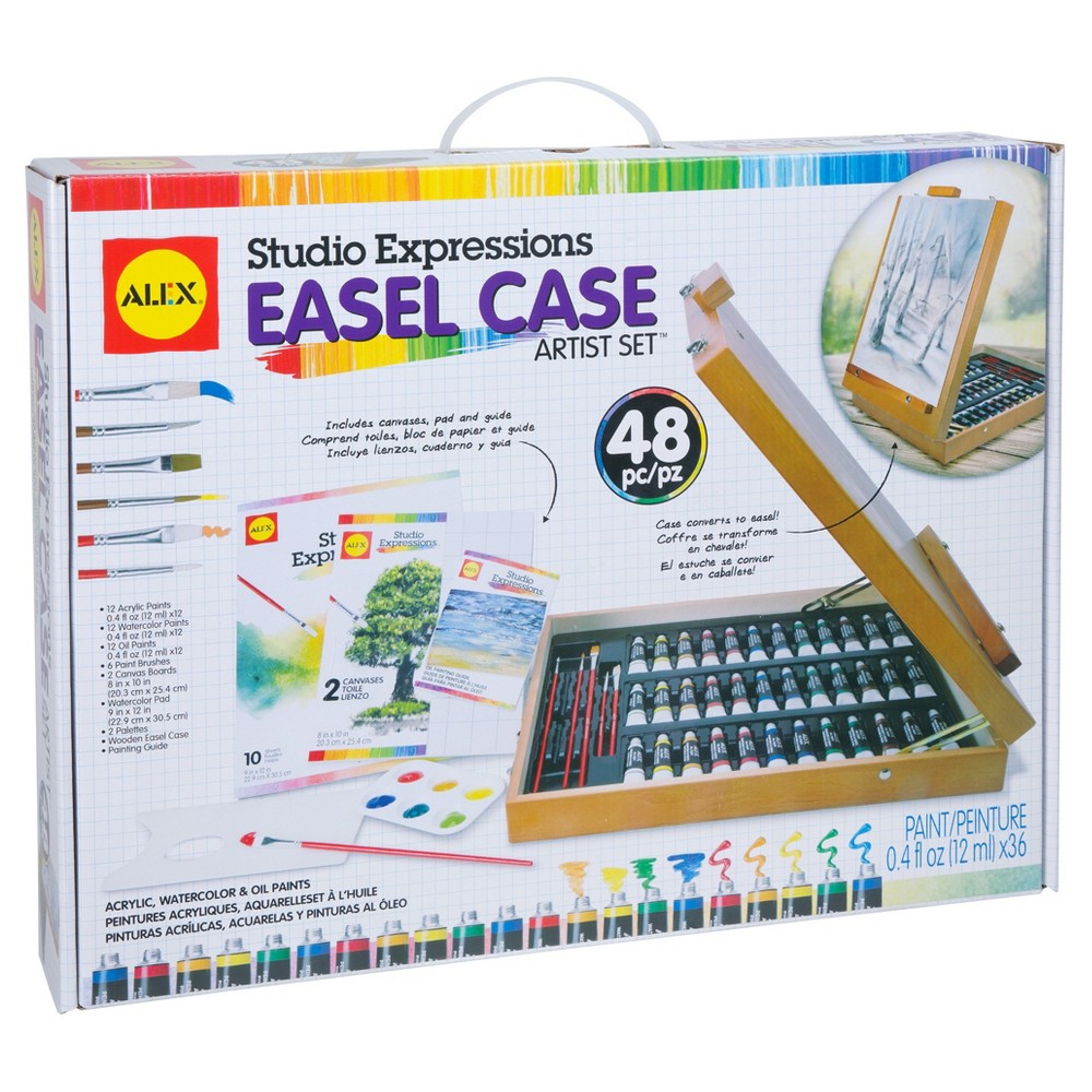 Image of ALEX Toys Studio Expressions Easel Case Artist Paint Set 48pc