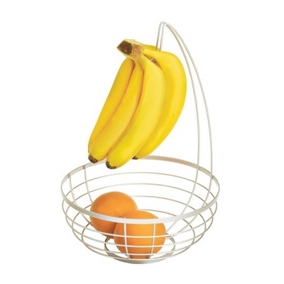 iDESIGN Austin Fruit Bowl with Hanger Silver