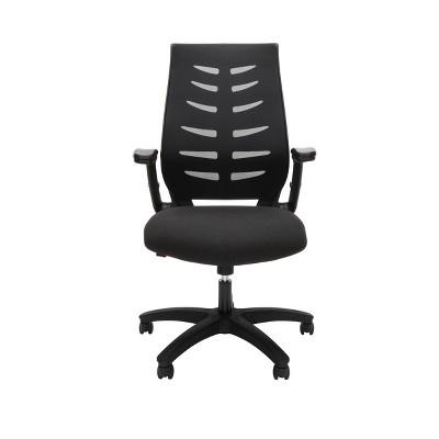 Mid-Back Mesh Office Chair for Computer Desk Black - OFM