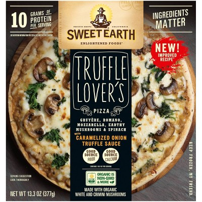 Sweet Earth Truffle Lovers Frozen Pizza - 13.3oz
