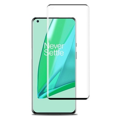 MyBat Full Coverage Tempered Glass Screen Protector Compatible With Oneplus 9 Pro - Black