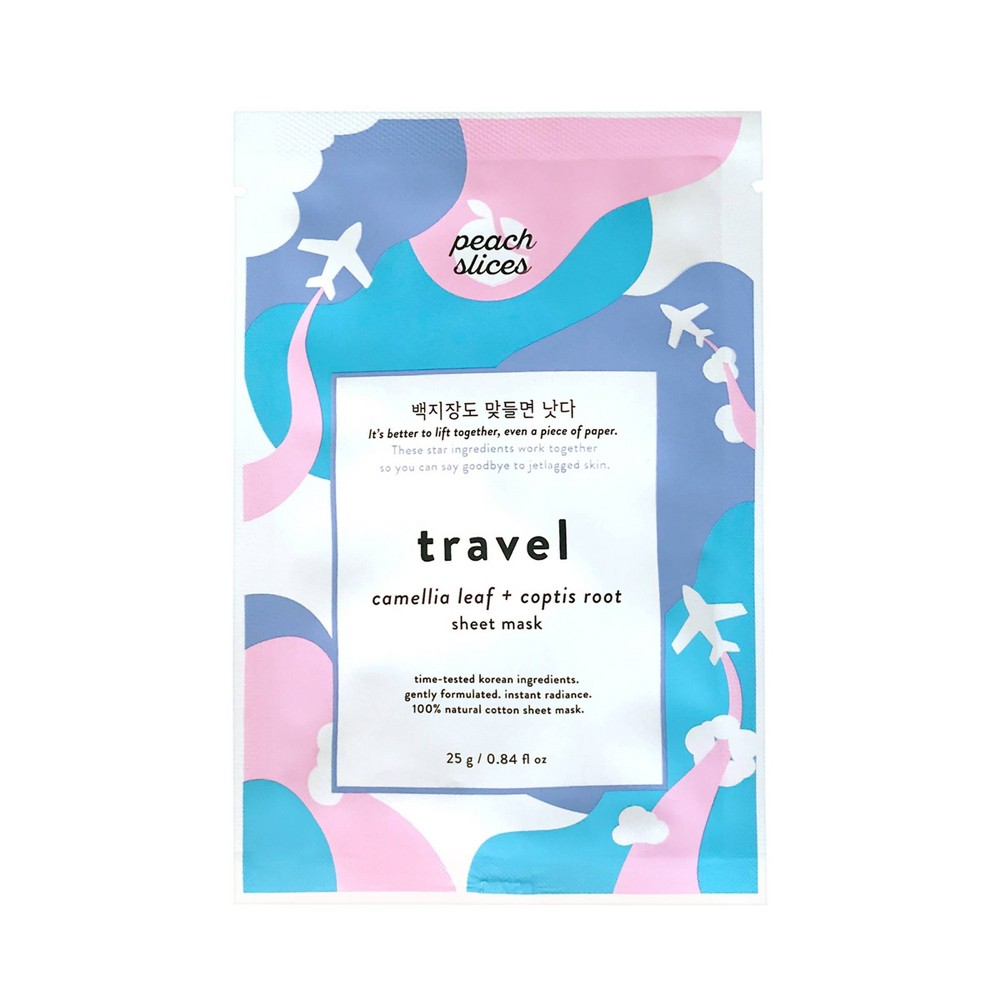 Image of peach slices Travel Sheet Mask - 0.84 fl oz