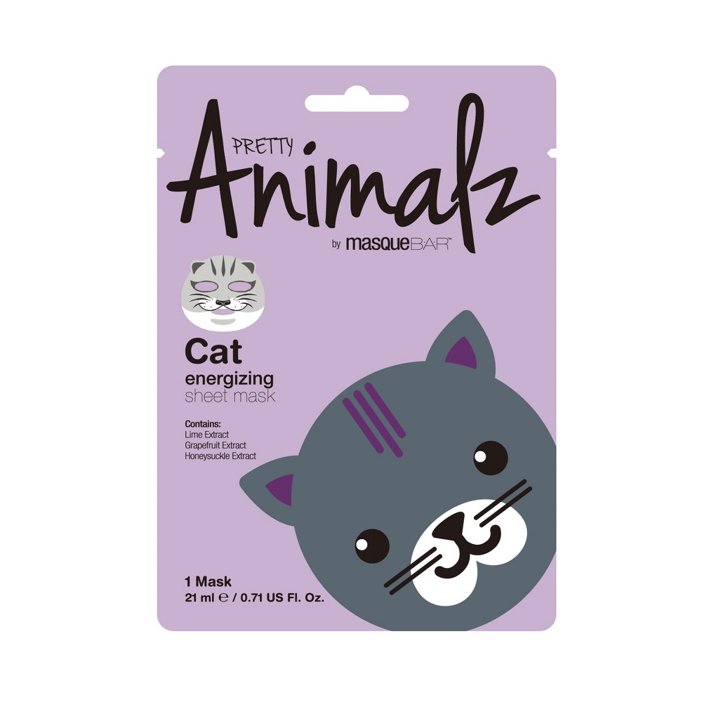 Pretty Animalz by Masque Bar Cat Energizing Facial Sheet Mask - 1ct