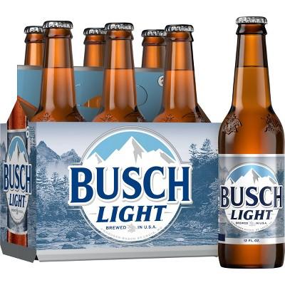 Busch Light Beer - 6pk/12 fl oz Bottles