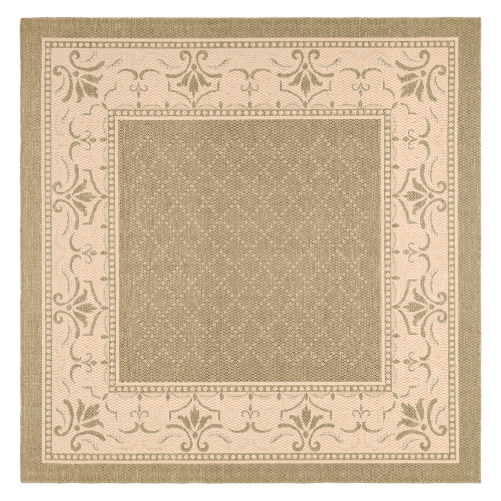 Cheap 710X710 Alicante Outdoor Rug Olive Natural - Safavieh