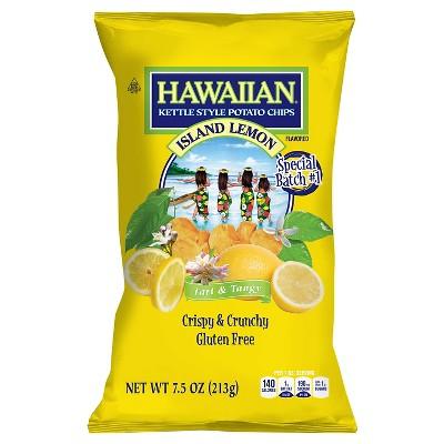 Hawaiian Tart & Tangy Island Lemon Flavored Potato Chips - 7.5oz