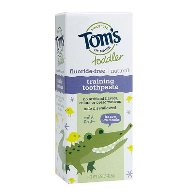 Tom's of Maine® Mild Fruit Natural Toddler Training Toothpaste - 1.75oz