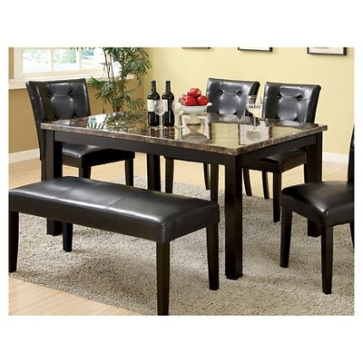 Ordinaire IoHomes Faux Marble Dining Table Wood/Black : Target