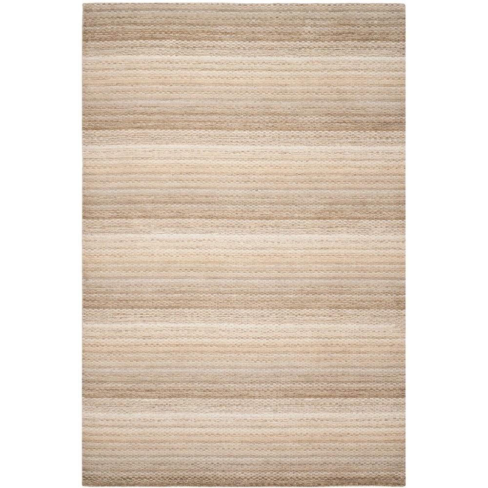 6'X9' Stripe Loomed Area Rug Beige - Safavieh
