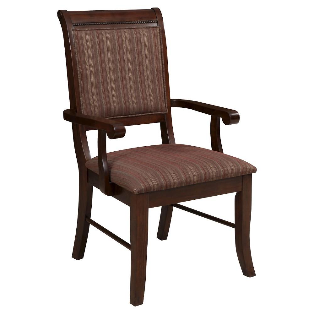 Mahavira Arm Dining Chair (Set of 2) - Espresso - Acme, Espresso Brown