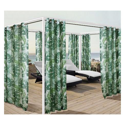 Banana Leaf Grommet Top Panel Green - Outdoor Decor - Banana Leaf Grommet Top Panel Green - Outdoor Decor : Target