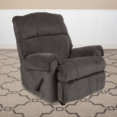 Flash Furniture Contemporary Rocker Recliner with Rolled Arms