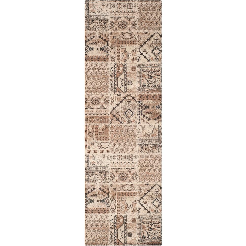 2'6X12' Tribal Design Loomed Runner Ivory - Safavieh, White