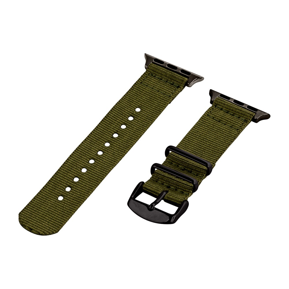 Clockwork Synergy Classic Nato 2 Apple Watch Band 38mm with Black Adapter - Army Green, Adult Unisex Customize the look of your timepiece with the Classic Nato 2-Piece Apple Watch Band from Clockwork Synergy. Crafted from high-quality nylon, this green watchband ensures long-lasting durability without sacrificing comfortable wear. With 11 adjustability holes, you'll get the perfect custom fit so your watch stays in place all day. Whether you show off the casual-cool army green band, or you switch it out to complement a specific outfit, you'll love sporting a unique look that complements your style. Gender: Unisex. Age Group: Adult.