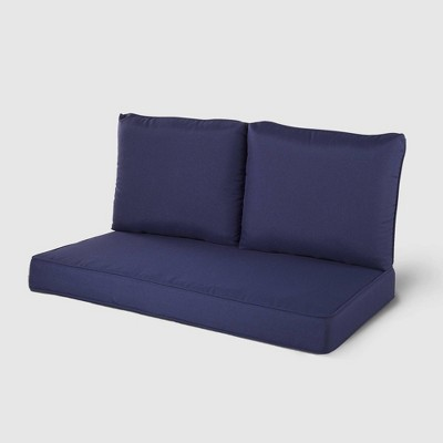 Rolston 3pc Outdoor Replacement Loveseat Sofa Cushion Set - Haven Way
