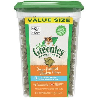 Greenies Feline Chicken Dental Cat Treat Jumbo Tub - 9.75oz
