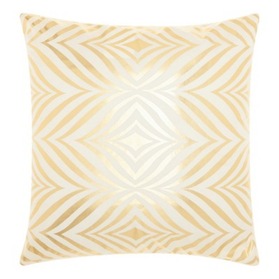 Gold Leaf Throw Pillow - Mina Victory