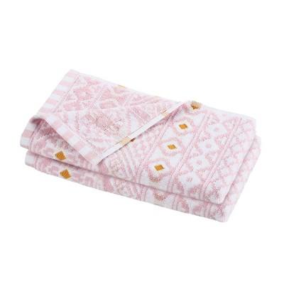 2pc Pinkadinkadew Jeannie Jacquard Towel Pink - Martex