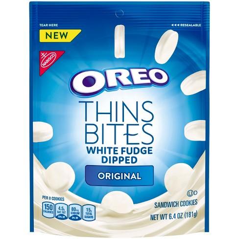 Oreo Thins Bites White Fudge Dipped Original Sandwich Cookies - 6.4oz - image 1 of 3