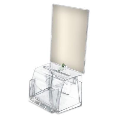 Azar Medium Molded Suggestion Box with Lock Clear