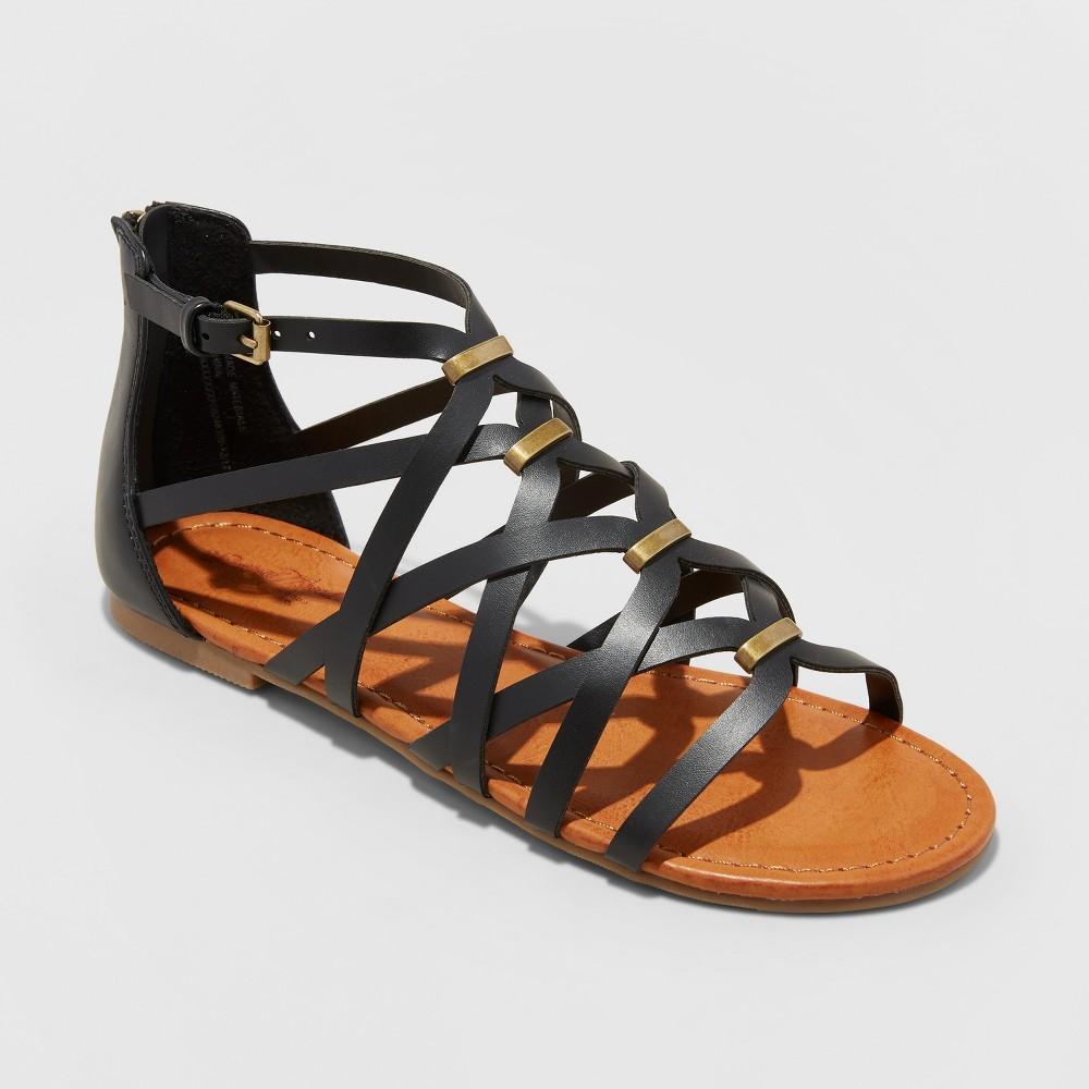 Women's Kerri Gladiator Sandals - Universal Thread Black 6.5