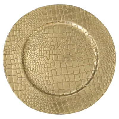 American Atelier Melamine Charger Plates 13  Gold - Set of 4