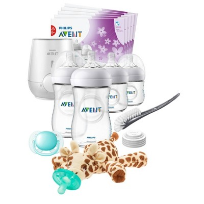 Philips Avent Natural All in One Gift Set With Soothie Snuggle Giraffe