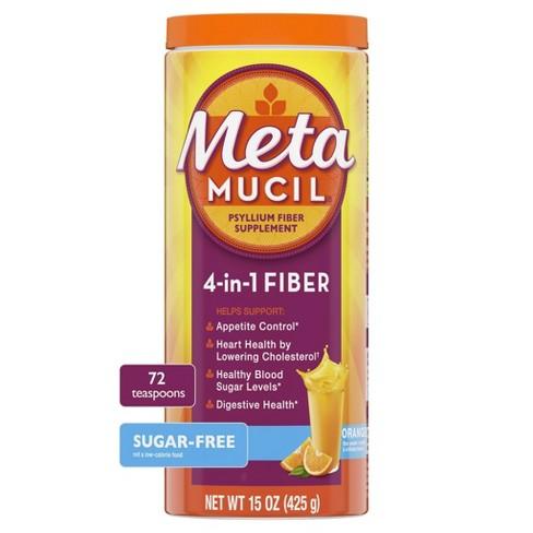 Metamucil Psyllium Fiber Supplement Sugar Free Powder - Orange Smooth - image 1 of 4