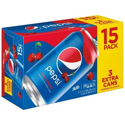 Pepsi Wild Cherry - 15pk/12 fl oz Cans