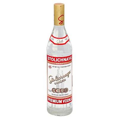 Stolichnaya Russian Vodka - 750ml Bottle