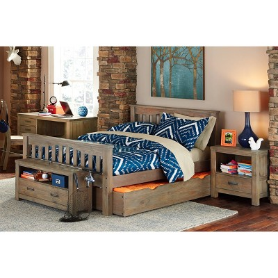 Full Highlands Harper Panel Bed with Trundle Driftwood - Hillsdale Furniture
