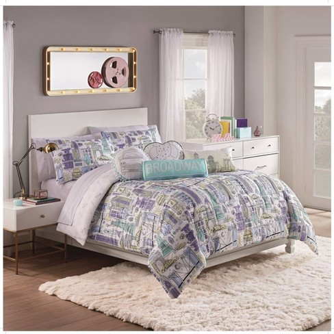Twin Cityscape 2pc Comforter Set - Spree By Waverly - image 1 of 3