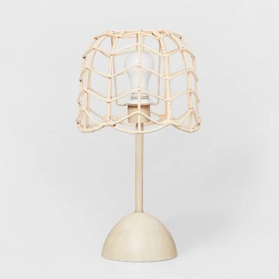 Rattan Table Lamp (Includes LED Light Bulb)Natural - Pillowfort™