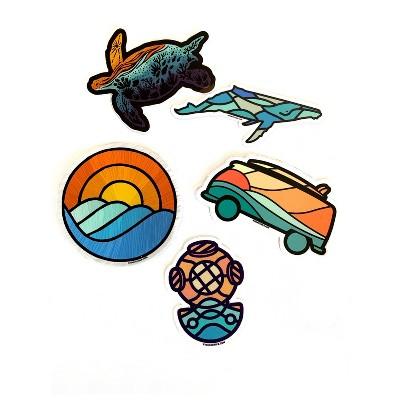 Atomicchild Oceanview Sticker Pack 5pc