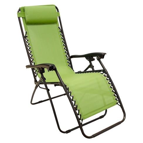 zero gravity lawn chair Zero Gravity Lounge Chair   Green   Captiva Design : Target zero gravity lawn chair